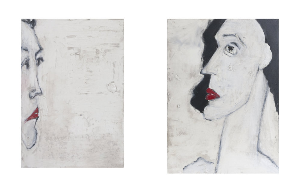 "Nancy Rosen 11""x15"" Mixed media on paper"