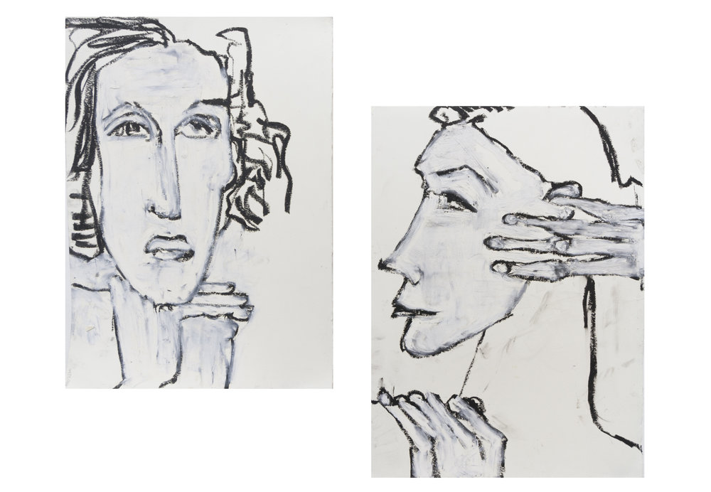 "Nancy Rosen 11""x15"" each Mixed media on paper"