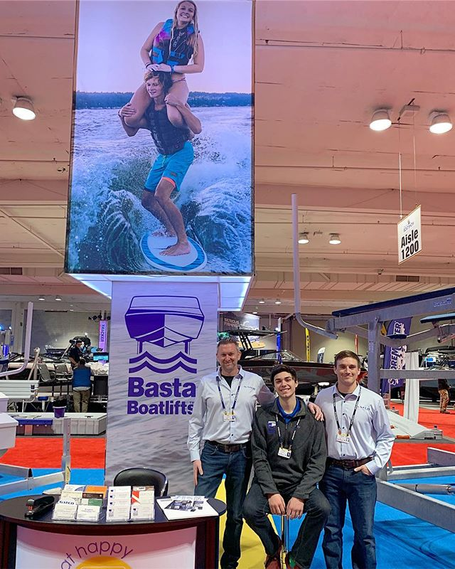 Today's the last day of the Seattle show.  We'd love to see you!  Have you met Gabe, Tanner, and Tom, yet? 🚤 Find some Basta lifts at booth is 1115 #GatcoMarine