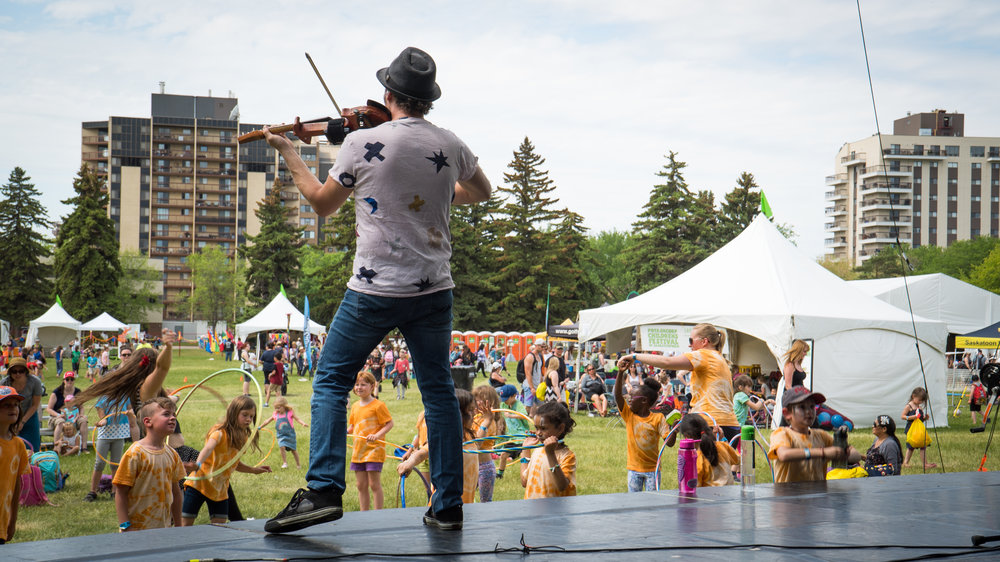Nutrien Children's Festival of Saskatchewan   - Kiwanis Memorial Park June 2-5, 2018       $10 entry, includes access to all shows and activities. Kids under 2 are free.   Photo Courtesy of Golden Media Company