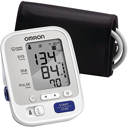 Omron Blood Pressure Monitor Cuff    The 5 Series home blood pressure monitor with Omron''s Advanced Accuracy helps ensure consistent, precise readings. When you trust your heart to Omron, you''ll be empowered by accuracy.