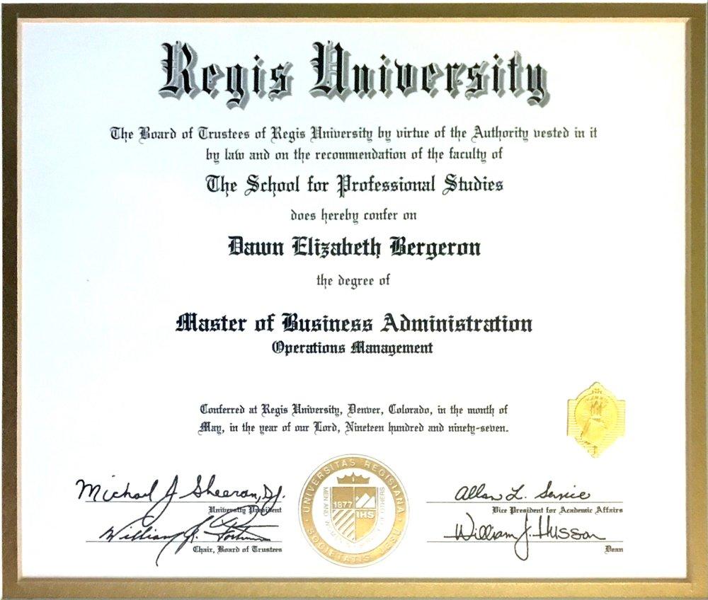 Regis university - MBA