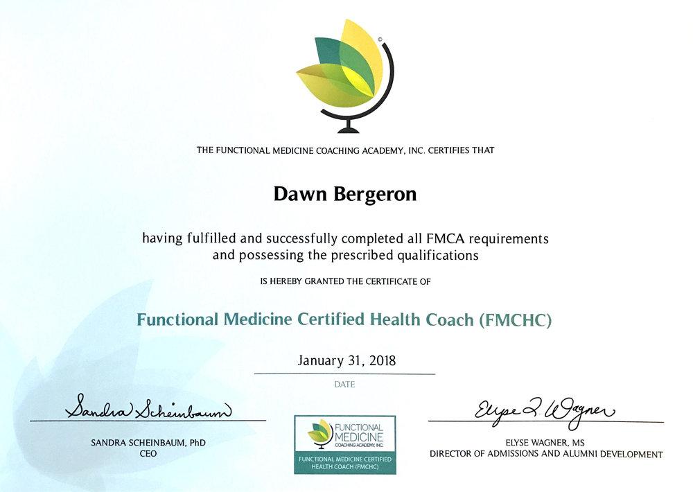 Functional medicine coaching academy - FMCHC