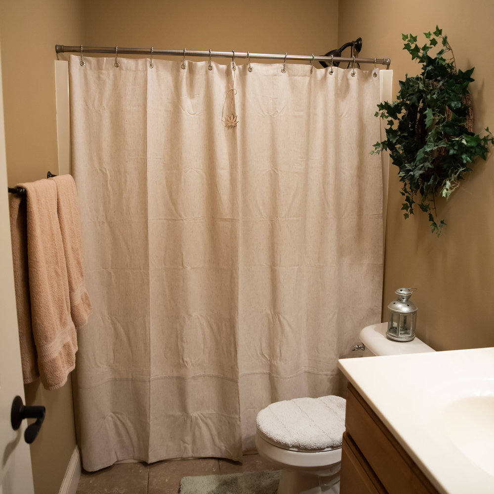 Organic Hemp Shower Curtain     Description   The composition of 55% hemp and 45% cotton.  Color: natural gray, non-dyed.  And most importantly - after each use and until the next, allow a hemp curtain to dry. There must be a flow of air in the bathroom. Or open the window, or the doors are open. Hemp fabric, although it has antibacterial properties, but if it is not allowed to dry for a long time - mold can appear as in synthetic fabric, not to mention natural tissue.