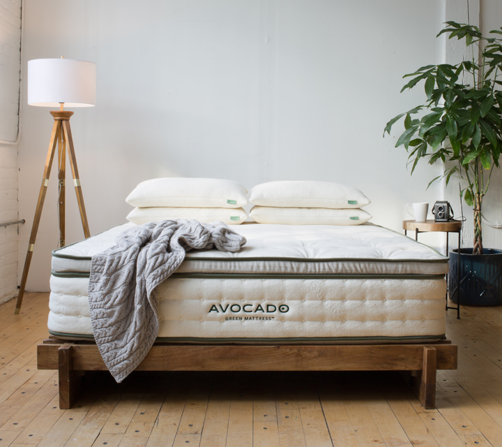 Avocado Green Mattress    Our natural mattress features 100% natural latex rubber, natural wool, certified organic cotton and up to 1,414 pocketed support coils. No polyurethane foams or toxic fire retardants. Or explore our   Vegan Mattress     made without wool.