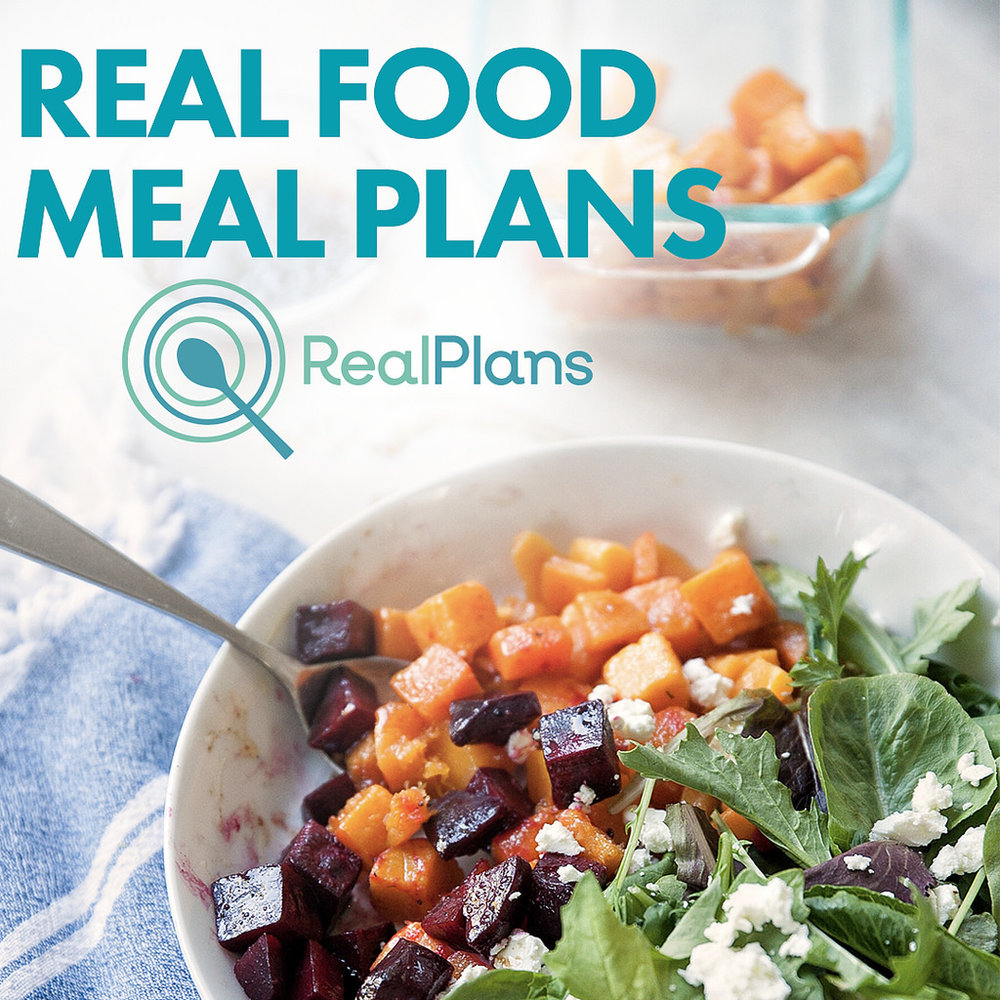 Real Food Meal Plans     A weekly meal planner customized for your (crazy busy) family.   Real Plans creates and organizes recipes, generates a weekly menu, grocery lists and a day-by-day roadmap for getting healthy, delicious food on the table. We clear the path to the kitchen so you can focus on feeding your family just the way you want.