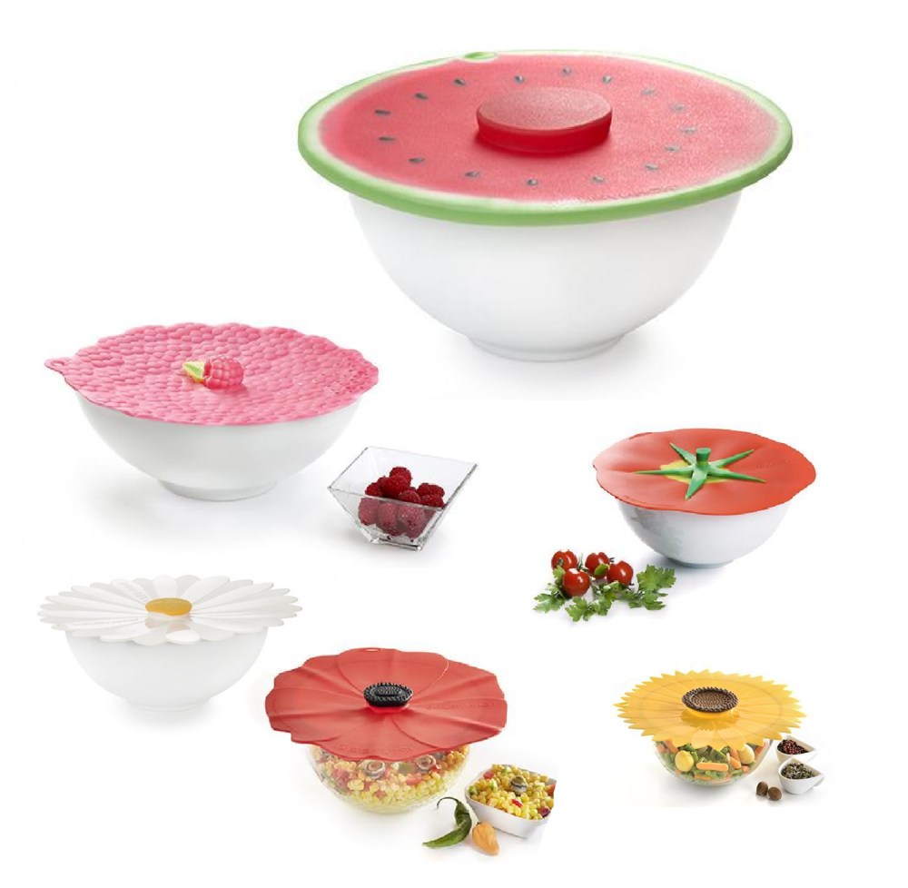 Charles Viancin Lid Options     It was in 2005 that Charles Viancin created the company and the brand which both bear his name   Lids, bottle stoppers, drink markers, and more come in an astounding array of shapes, sizes, and colors and are all made from environment-friendly silicone. Their unique designs make them essential for containing kitchen messes, keeping food fresh, sealing in heat for hot foods, and keeping cold foods chilled. Durable and flexible, silicone is the perfect material for bringing Charles Viancin's ideas to life.