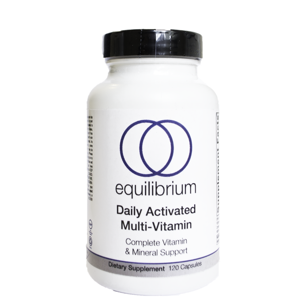 Daily Activated Multi-Vitamin   is a comprehensive, hypo-allergenic, multi-vitamin and mineral blend. As a complete multi-vitamin, Daily Activated Multi-Vitamin provides high-quality nutrients to build a healthy micronutrient reserve. USP* B vitamins support energy production and folate (as Quatrefolic™ - 100% 5-MTHF), the biologically active form of folic acid, improves methylation. Albion® TRAACS® chelated mineral complexes enhance bioavailability. Daily Activated Multi-Vitamin includes an optimal 2:1 magnesium to calcium ratio. Key antioxidant vitamin C, natural vitamin E mixed tocopherols and carotenoids protect cells from free radical damage. Daily Activated Multi-Vitamin also contains the synergistic blend of vitamin K2 (as MK-7) and D3 which are critical for supporting bone strength and cardiovascular health.