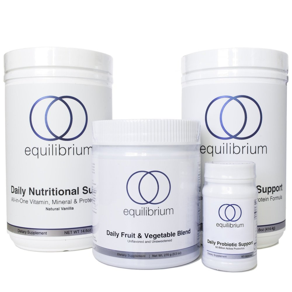 Dr. Cabral Daily Protocol    For less than $5 a day (the same price as a latte) you can get the nutrition of 22 organic fruits & vegetables, a multi-vitamin, multi-mineral, B-vitamin complex, antioxidant, detox support, 15g of protein, and 50 billion non-dairy probiotics! (Save over $8/day)  THIS BUNDLE INCLUDES:  (2) Daily Nutritional Support Shake Vanilla  (1) Daily Fruit & Vegetable Blend  (1) Daily Probiotic Support
