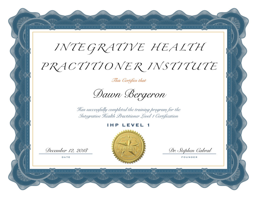 Education Certifications Dawn Bergeron Integrative Health