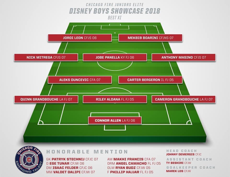 Disney Boys Showcase 2018 Best XI: Carter Bergeron IL FJ 05