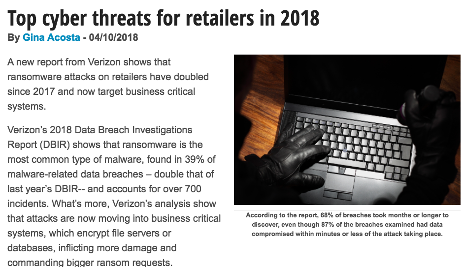 Top cyber threats for retailers