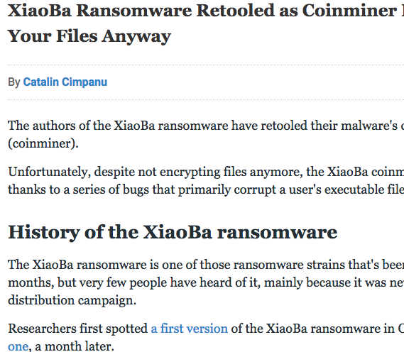 New XiaoBa Ransomware retooled