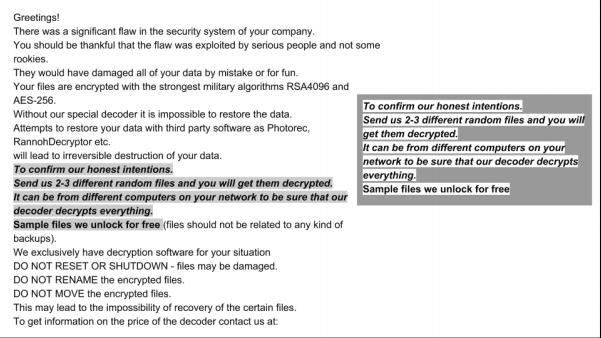 Ryuk & Bitpaymer Ransom Notes