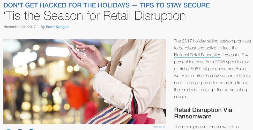 Retailers targeted during holiday sales season