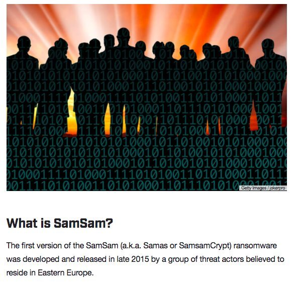 New SamSam ransomware strain emerges