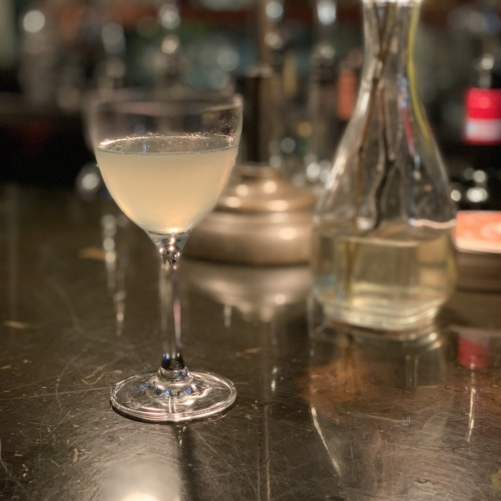 The Last Word - 1.25oz The Botanist Botanical Gin.66oz Maraska Maraschino Liqueur.66oz Fresh Lime Juice.5oz Veritable Genepy le Chamois(shake, dbl strain, nick & nora coupe, absinthe rinse)