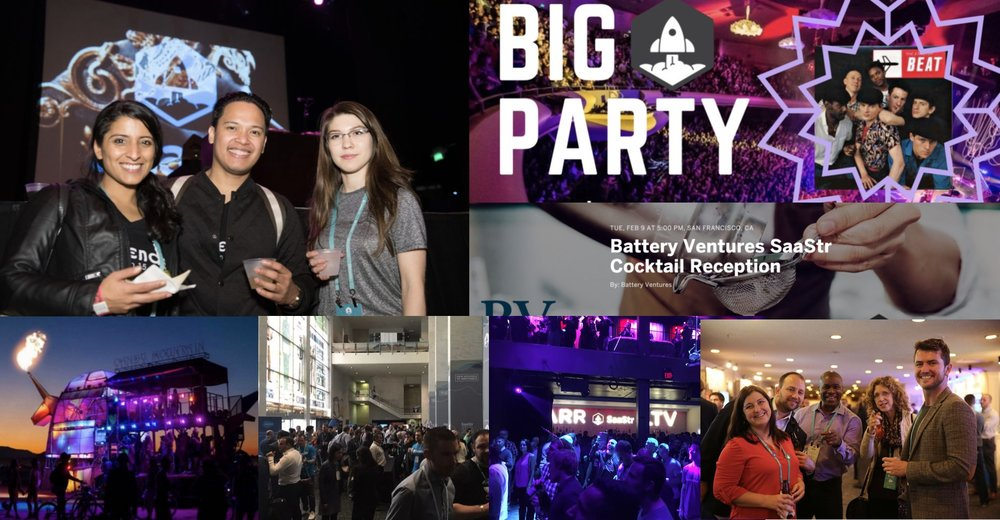 Great Parties & Networking - Just you, us, and your new SaaS BFFs.