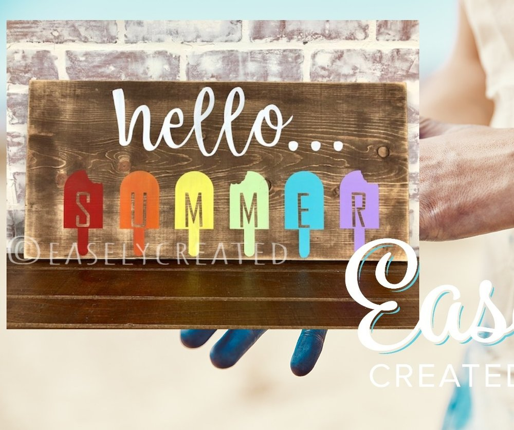 12x24 Wooden Hello Summer Sign