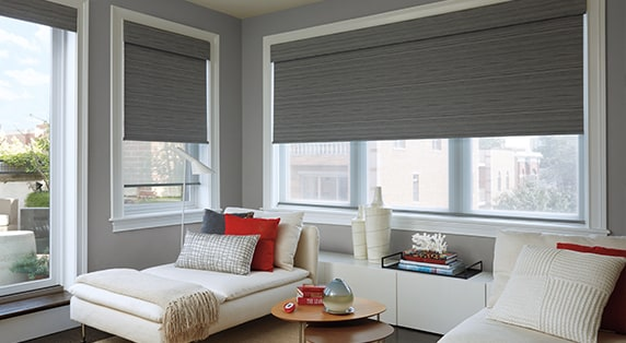 DESIGNER ROLLER SHADESOur Designer Roller Shades combine the ease and simplicity of a roller shade with hundreds of fabric choices—sheers to opaques, patterns to textures, and traditional solid colors. -