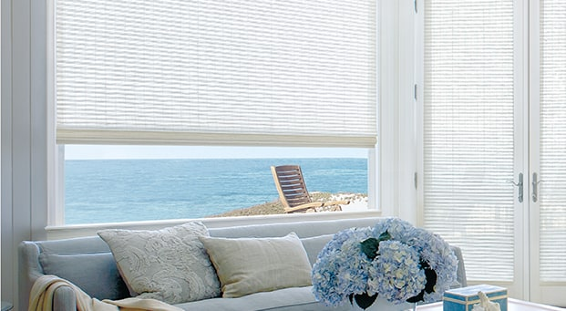 PROVENANCE®Hand-woven from natural fibers, Provenance® Woven Wood Shades add natural beauty by creating a design story of light, texture, and colour for every window in your home. -