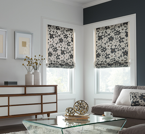 take your space from so-so to sensationalOur Artisan custom fabric Roman shades bring any room to life. Choose a classic flat style for a look that's clean and chic, or select richly folded waterfalls to add graceful dimension. Other designs include looped Roman, seamless Roman, pleated Roman, and balloon styles. Whatever your desire, Artisan fabric Roman shades will intensify the elegance of your home. Fresco® Roman shades combine the softness of drapery with the practicality of a shade. Available in select fabrics and featuring a seamless, longer pleat size, the Fresco Roman shade delivers a sleek, modern look, so you can style your windows with confidence.  -
