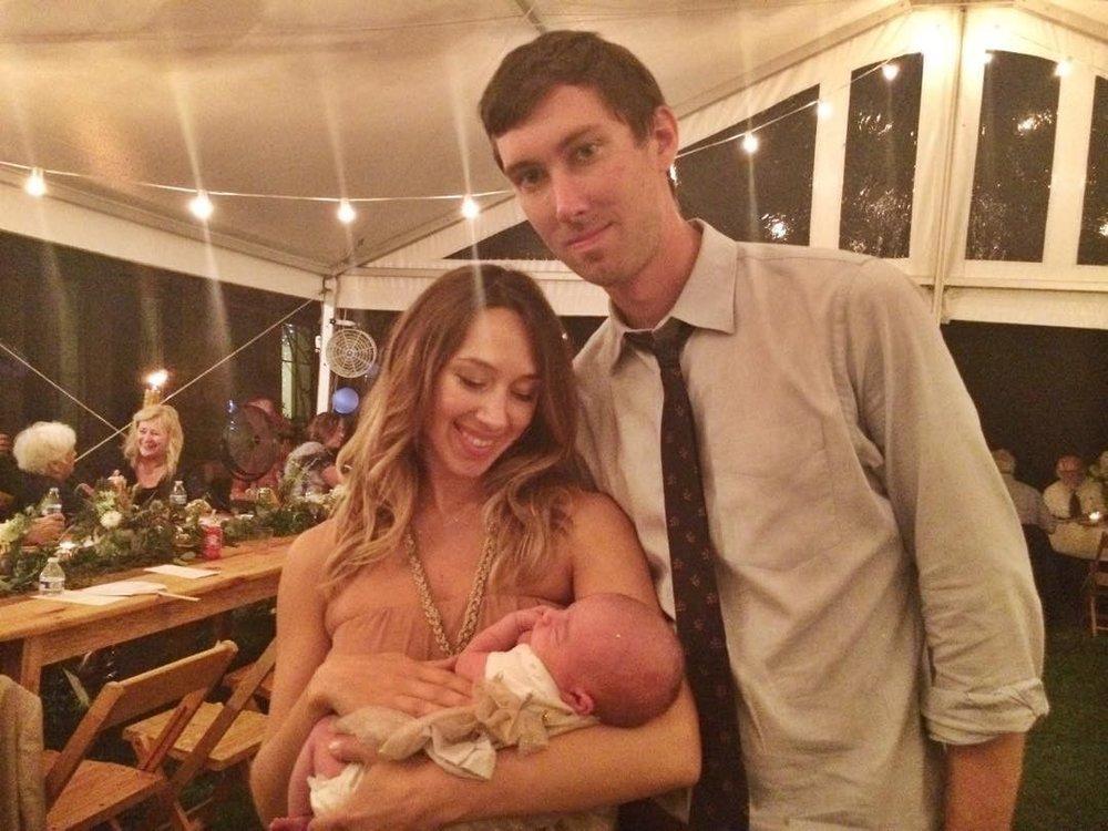 Christina, Justin, & baby Esme