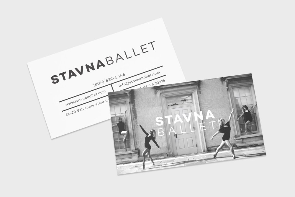 Stunning new cards feature Stavna's company dancers