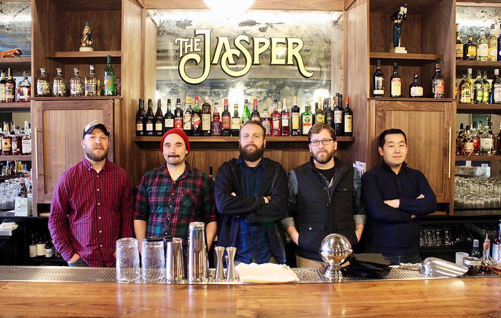 From left: Thomas Leggett, Jeremy Wilson, Brandon Peck, Mattias Hagglund and Kevin Liu.  (J. Elias O'Neal)
