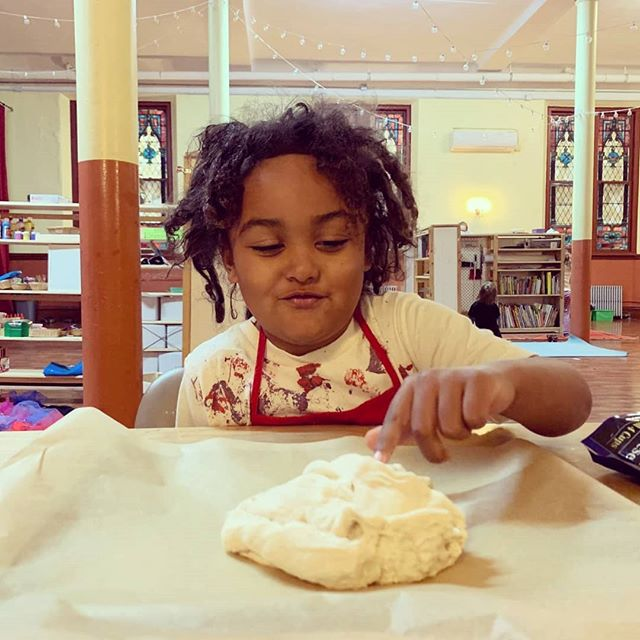 Wanna hear a joke about pizza? Never mind, it's too cheesy. 🍕🧀🍕🧀🍕🧀🍕🧀🍕 We're working with all different kids of doughs in cooking at Cottonwood this year! From gingerbread, to cinnamon roll, bread, to PIZZA!
