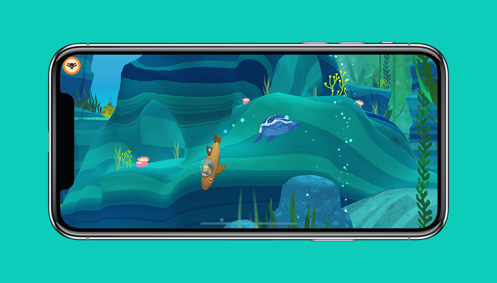 Octonauts App Kwazii and Leatherback Sea Turtle