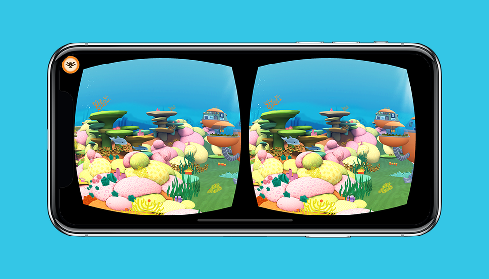 Octonauts App VR Mode Sunlight Zone Screen