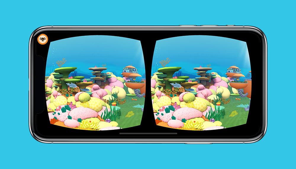 Octonauts App VR Mode Sunlight Zone Screen