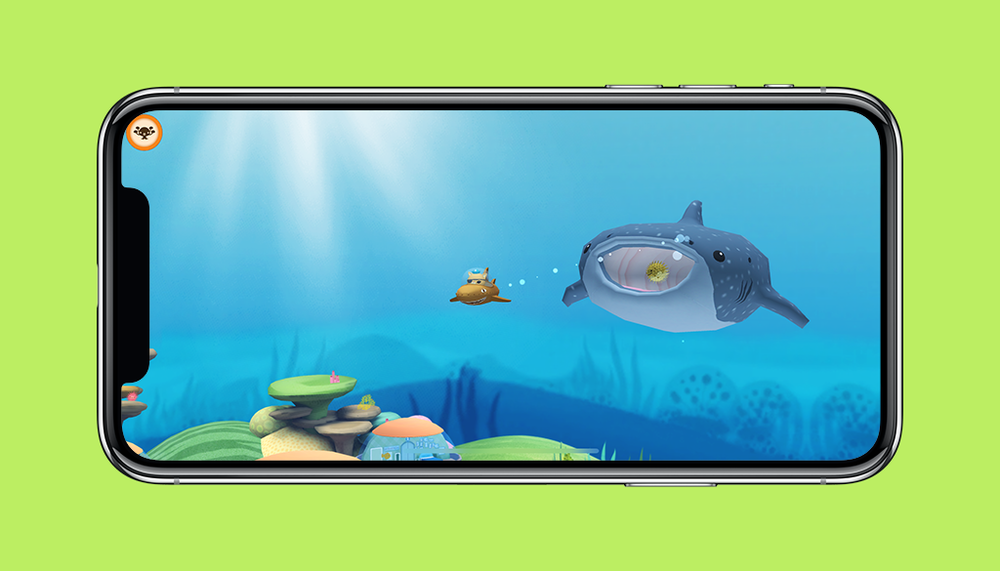 Octonauts App Kwazii and Whaleshark