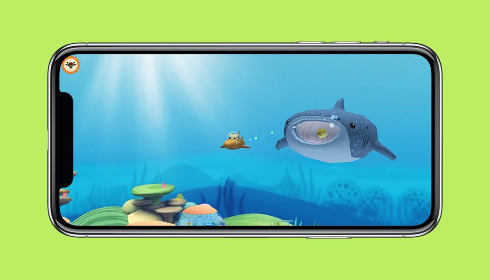 Octonauts App Kwazii and Whaleshark