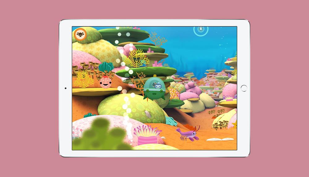 Octonauts App Explore the Sunlight Zone Screen