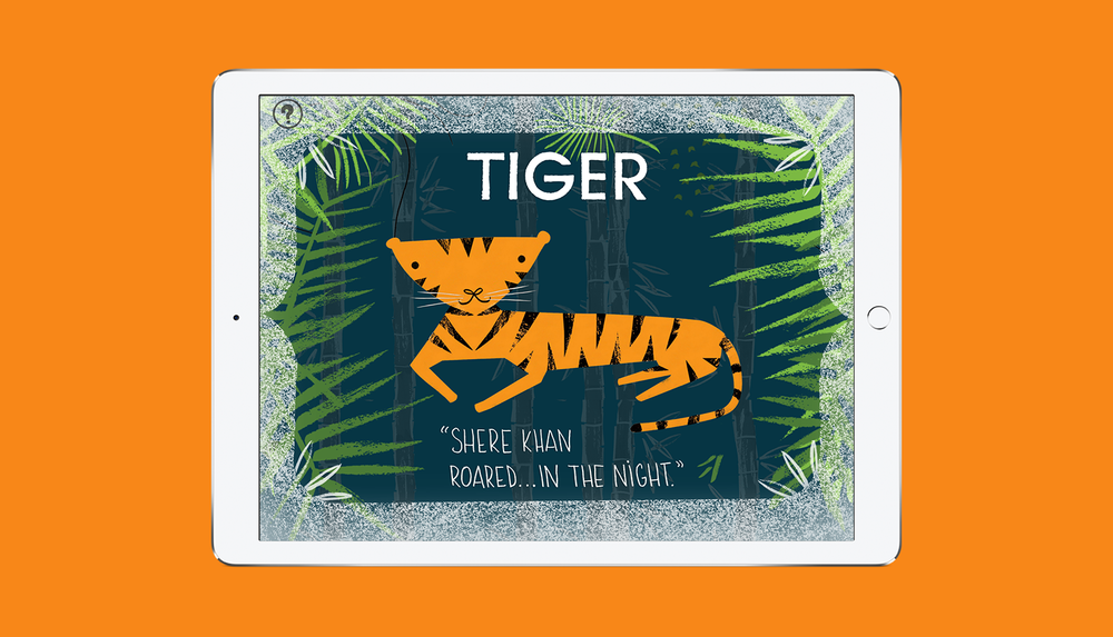 BabyLit Jungle Book App Tiger Screen