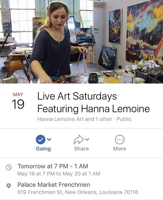 OH HEY THATS ME! I will be painting tomorrow at the @palacemarketfrenchmen (weather permitting) come visit!