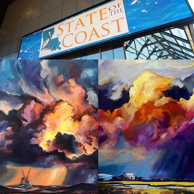 I will be showcasing my artwork this upcoming Thursday at the State of the Coast conference! Come by and say hi! Really excited to share my work at this conference ESPECIALLY considering the core reason why I paint what i paint! TO PRESERVE OUR CULTURE LAND AND HISTORY! Anyone who has talked to me knows that the storms in my paintings represent something much more. They represent the change in our environment. The chaos and turmoil of an ever-changing land teetering on the edge of existence. I paint to preserve my culture and my home. But also to enlighten others on the war that is going on in our environment.