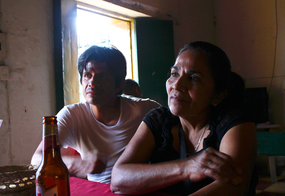 Irma (right) and her younger brother, Chiyo (left) in Morazan, El Salvador, 2013. Photo by Arlene Mejorado