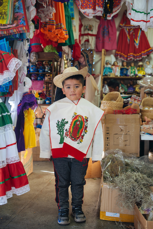 Child dressed for Dia de la Virgen, Los Angeles, California 2016