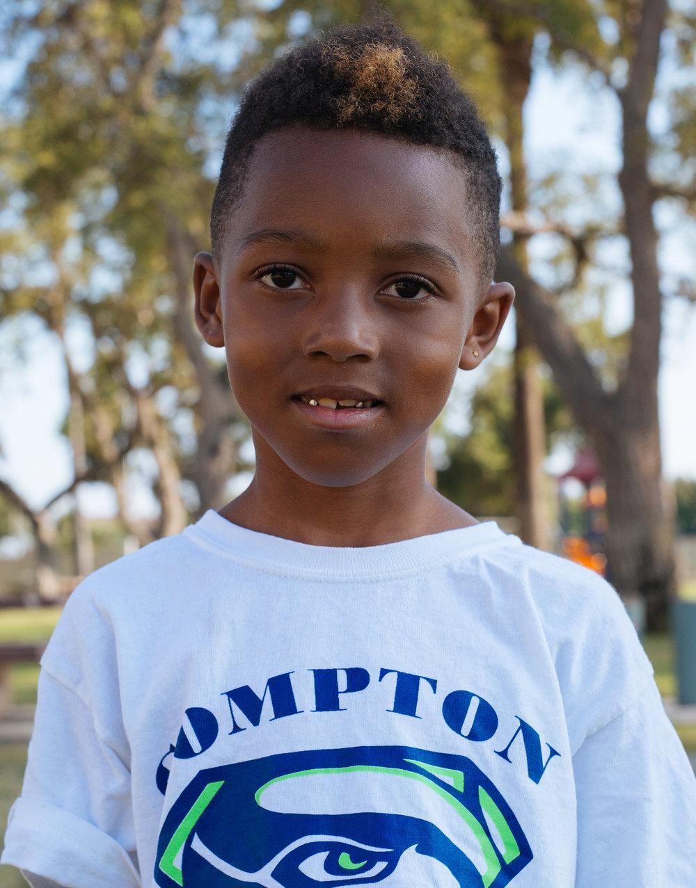 Child at the park, Compton, California 2016
