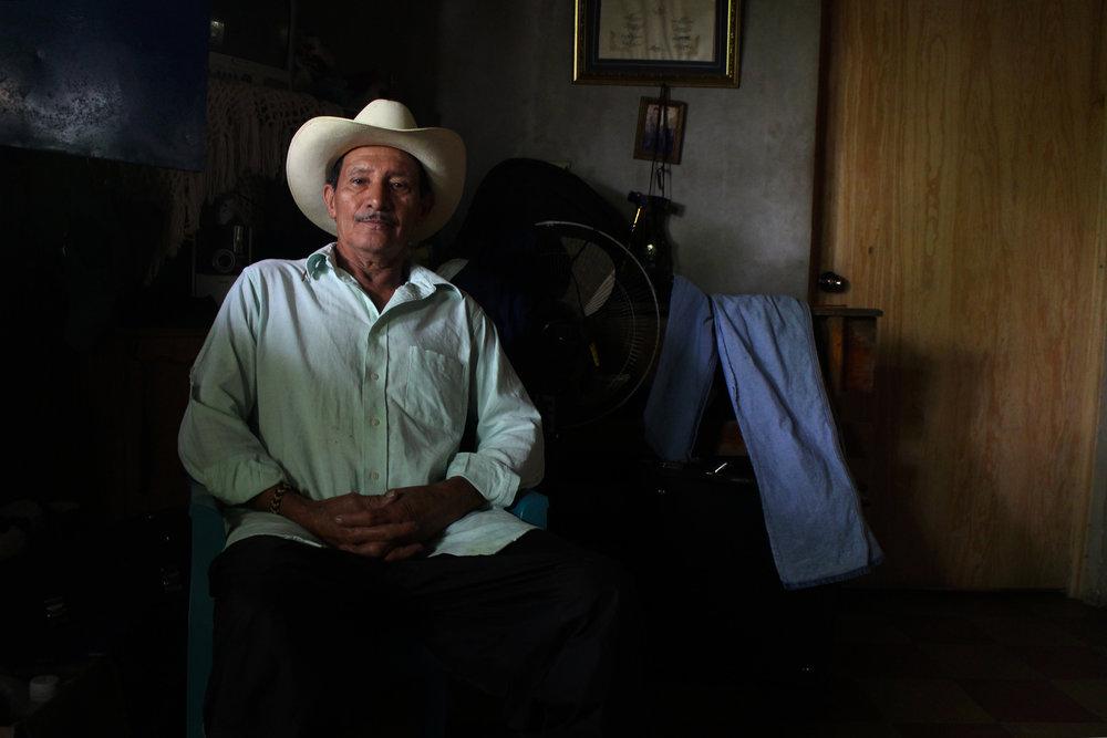 Felipe of the band Los Torogoces de Morazán, El Salvador, 2013