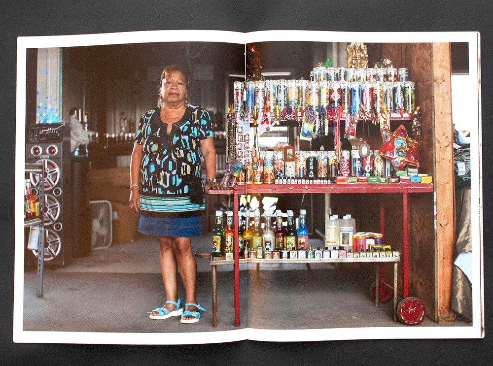 La Pulga Zine - La Pulga zine gathers photographs from La Pulga Series by Arlene Mejorado made in San Antonio, Texas. Published by Deep Red Press in 2017, the zine is available for purchase at the LACMA bookstore and the online store.