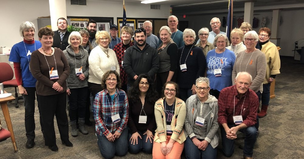 Delegates and attendees of the 2018 Dickinson County Democratic Convention.