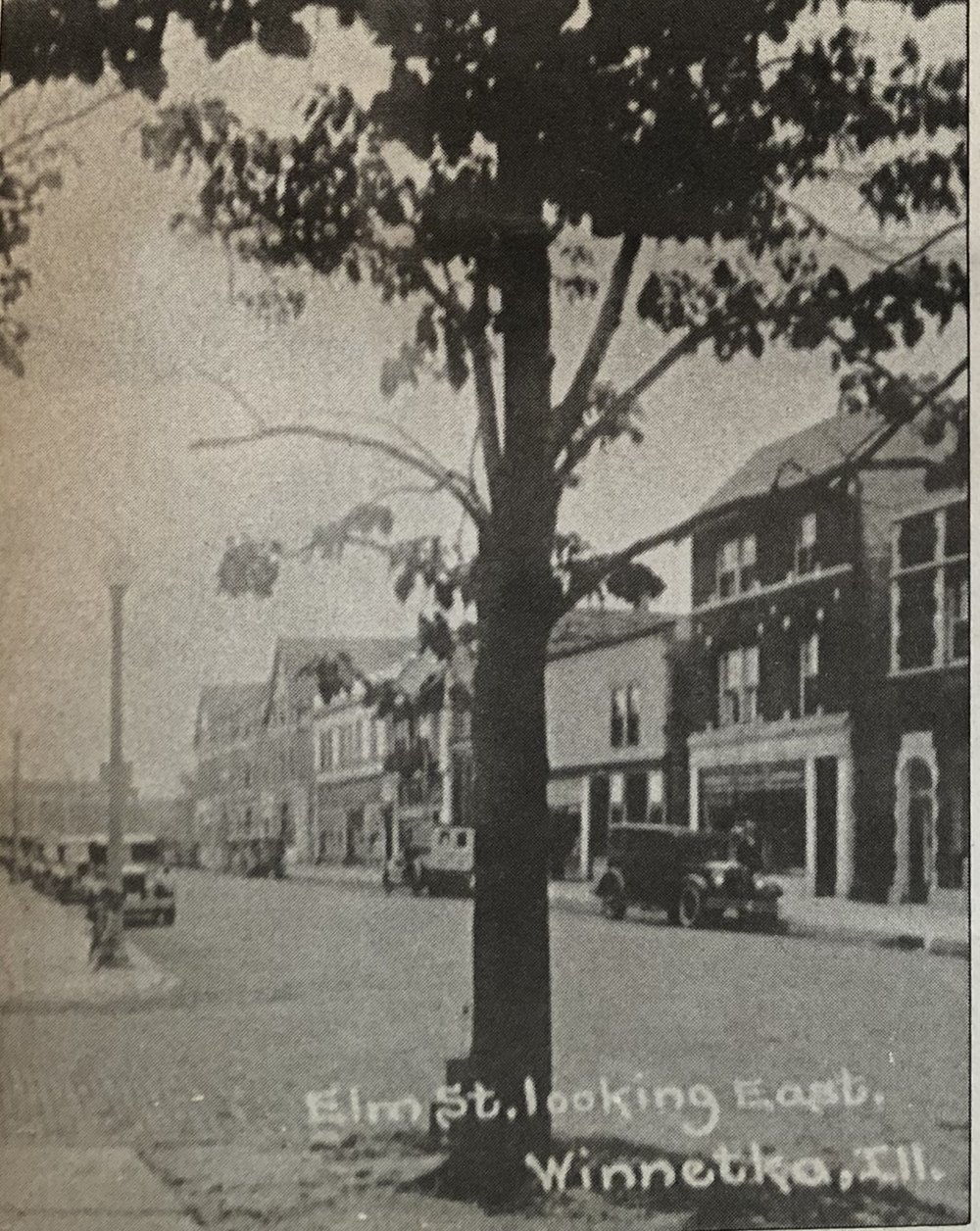 Elm Street Looking East circa 1930
