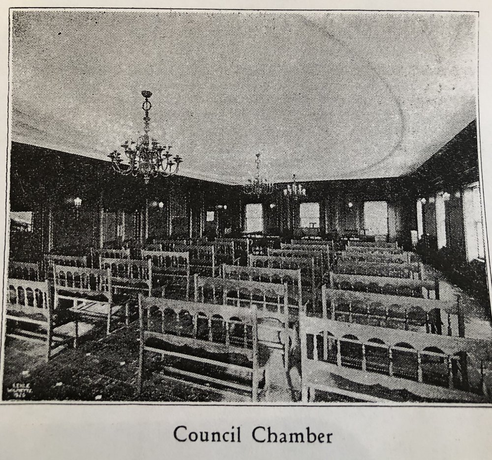 Village Hall Council Chambers circa 1926