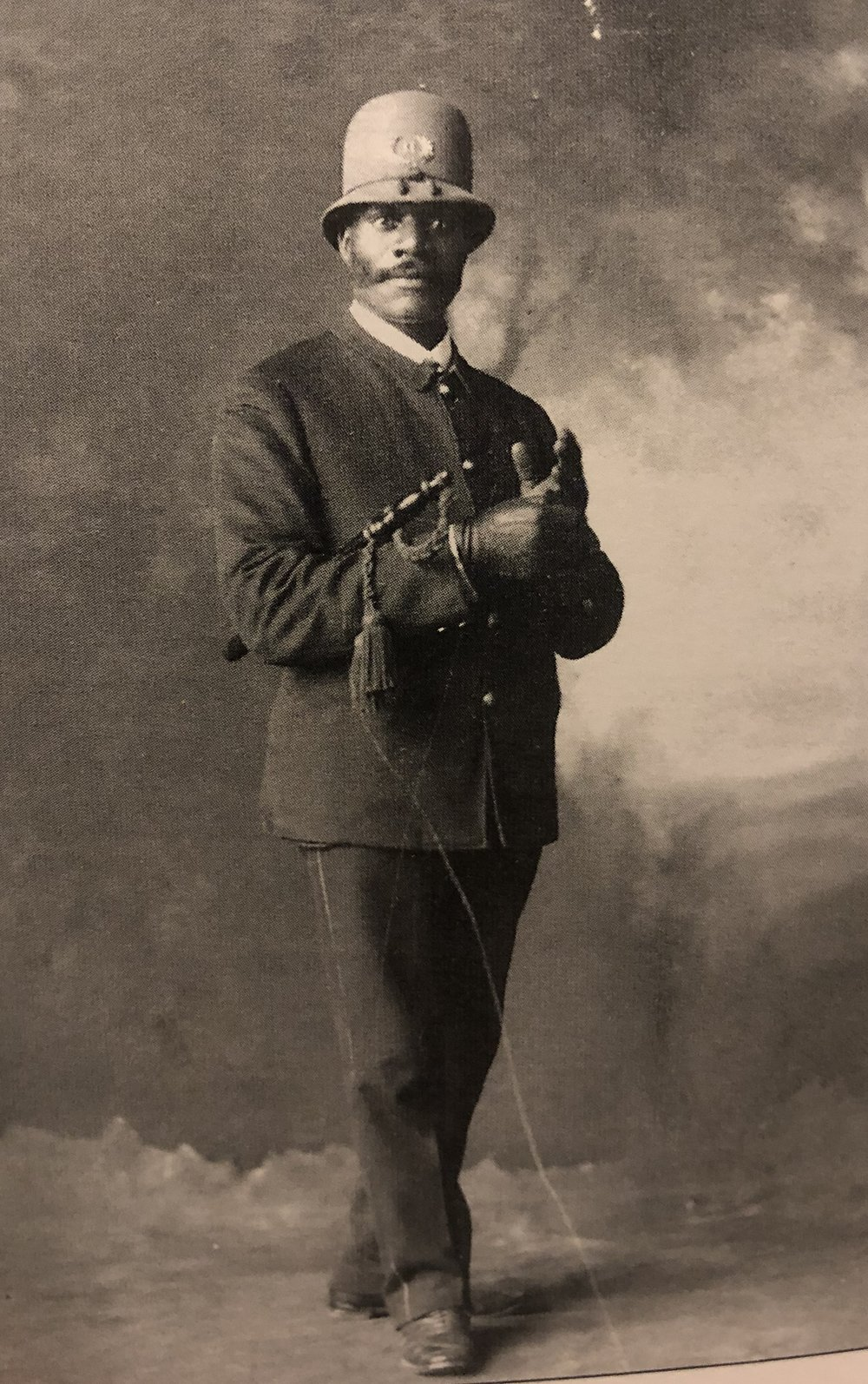 1914 - Police Officer Jerry Cross poses for his official portrait. Winnetka's Police Department was one of the first to hire African Americans. -