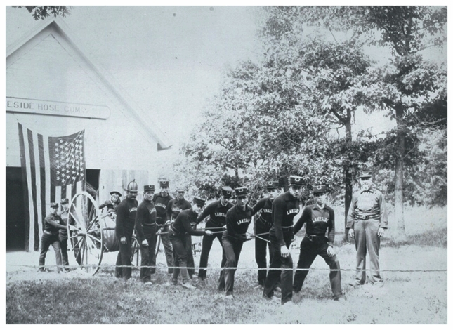 """1893 - The Winnetka Fire Department begins as the""""Lakeside Hose Company"""" -"""