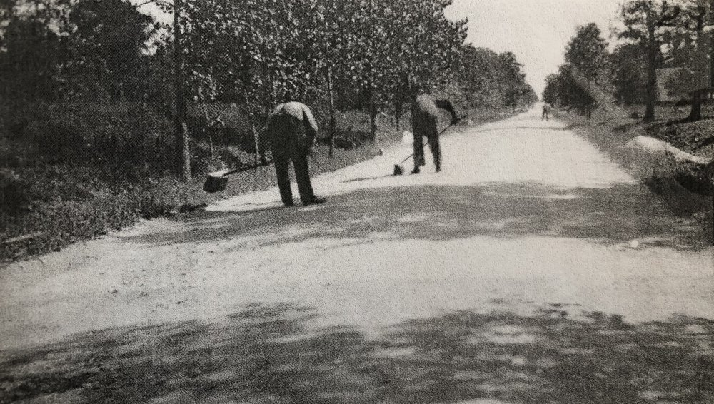 "and in hot summers, the dust lay six to eight inches deep"" - Frank A. Windes, Village Engineer 1898-1940"